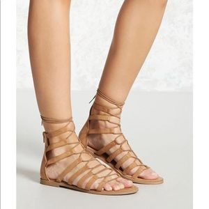Forever 21 | Faux Suede Gladiator Sandals Size 7